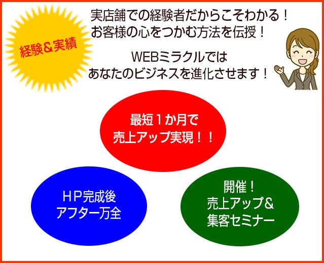 webミラクル3つの売上アップ方法